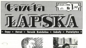 okładka Gazety Łapskiej rok 1993 nr 1